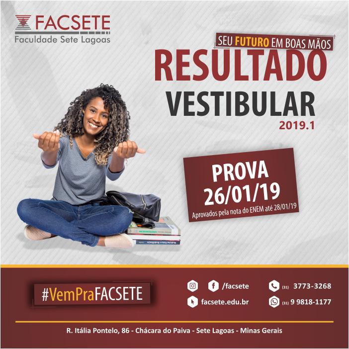 RESULTADO VESTIBULAR - PROVA 26/01/2019 - APROVADOS PELA NOTA DO ENEM ATÉ 28/01/2019
