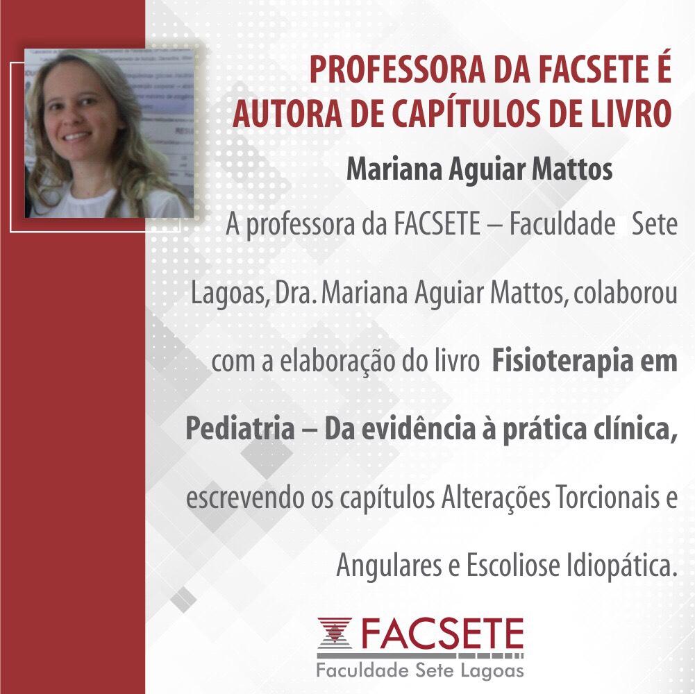 PROFESSORA DA FACSETE É AUTORA DE CAPÍTULOS DE LIVRO