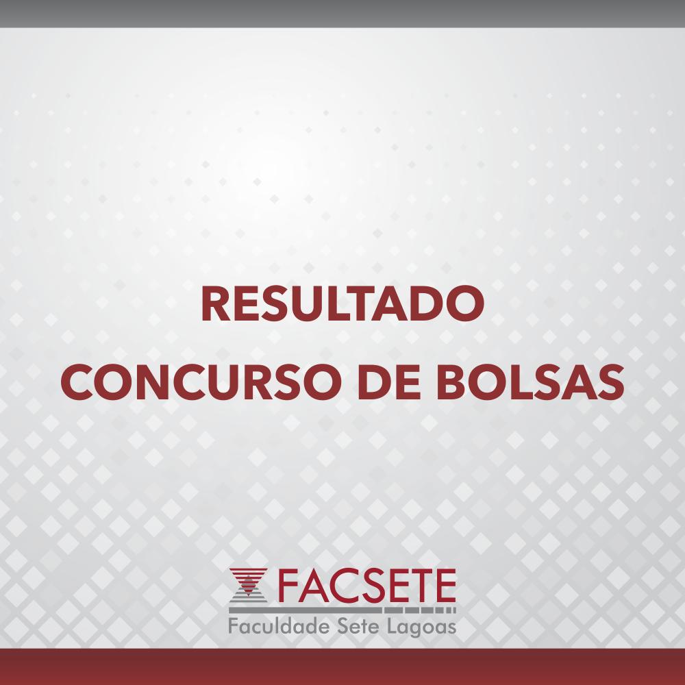 RESULTADO VESTIBULAR CONCURSO DE BOLSAS 2020.1