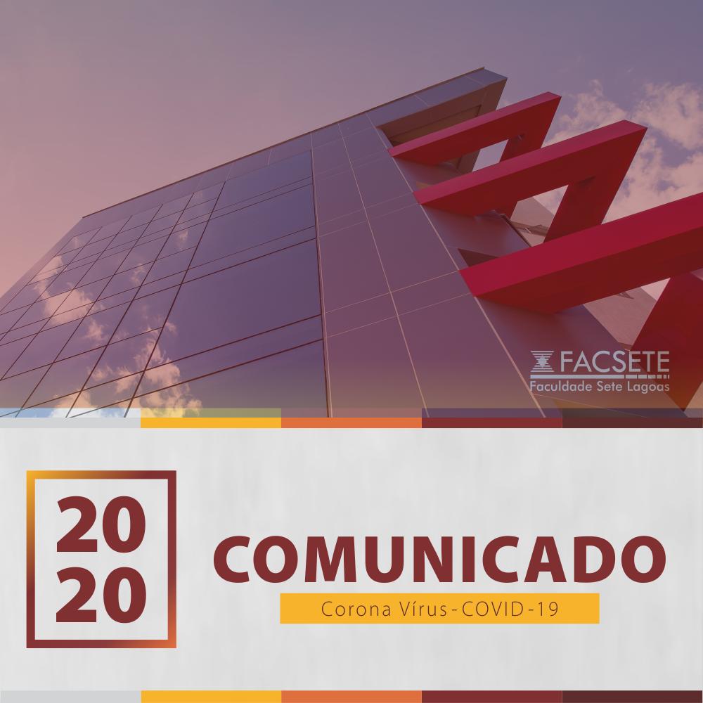 COMUNICADO OFICIAL – Corona Vírus COVID-19