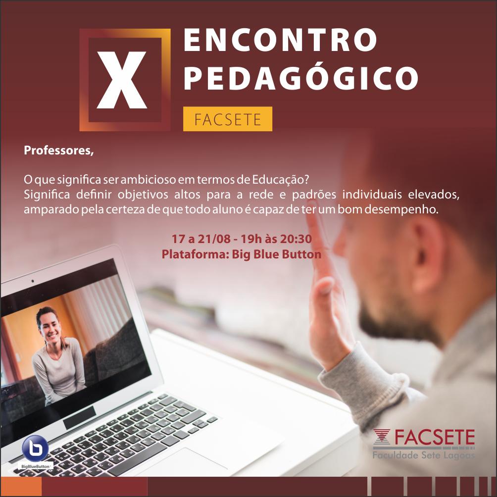 X Encontro Pedagógico 2020.2
