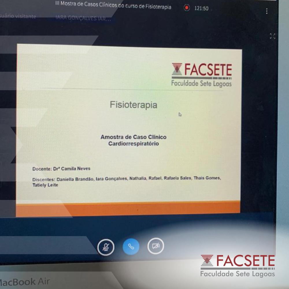 FACSETE REALIZA MOSTRA DE CASOS CLÍNICOS DE FISIOTERAPIA