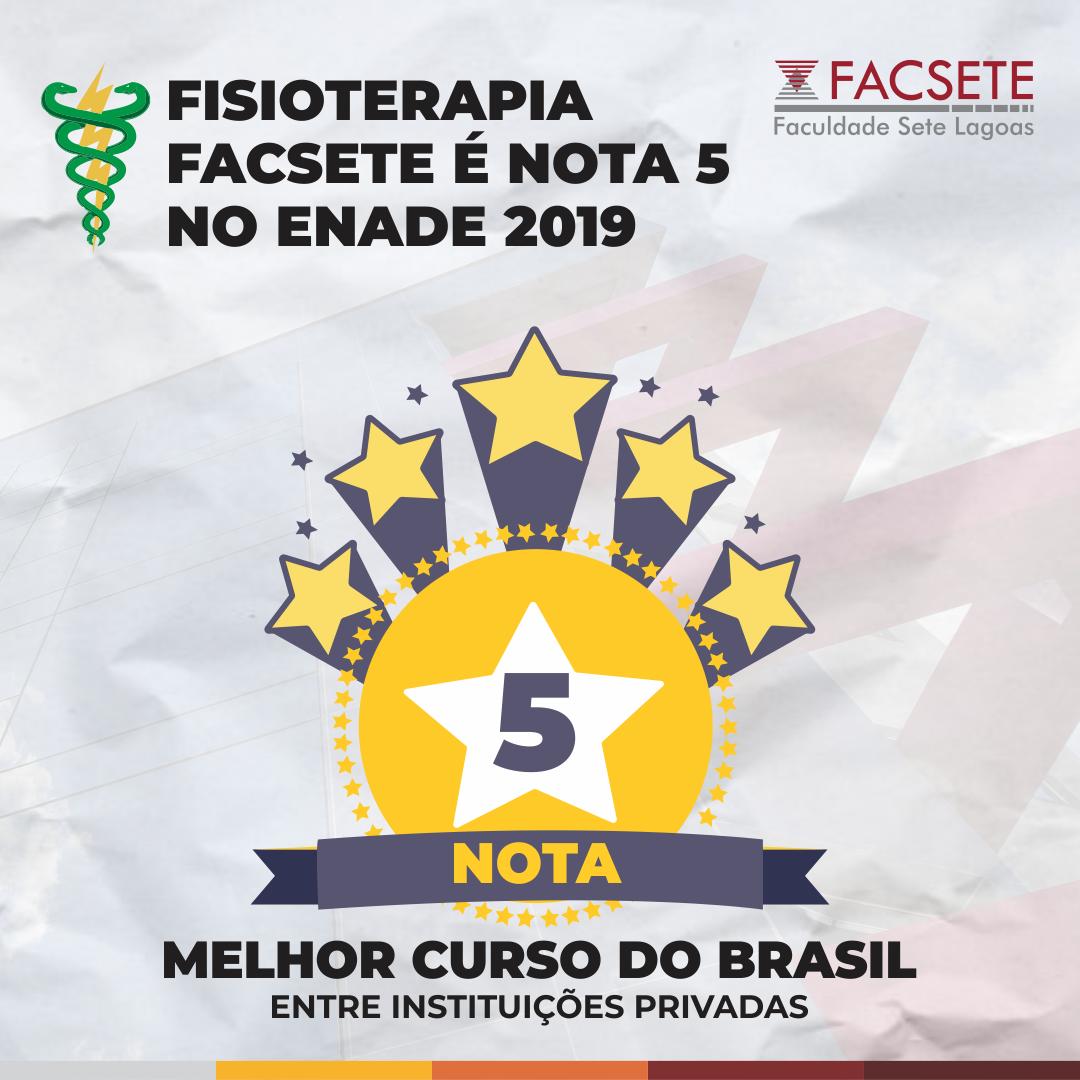 FISIOTERAPIA FACSETE É O MELHOR CURSO DO BRASIL - Entre instituições privadas